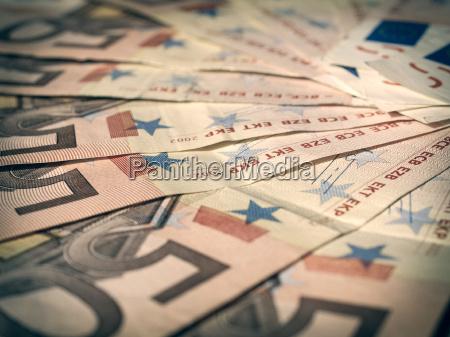 retro look euro note