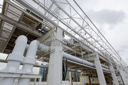 pipe on the roof top