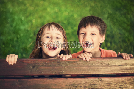 outdoor portrait of smiling girl and