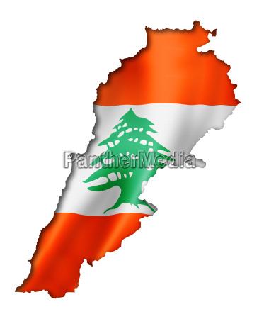 lebanese flag map