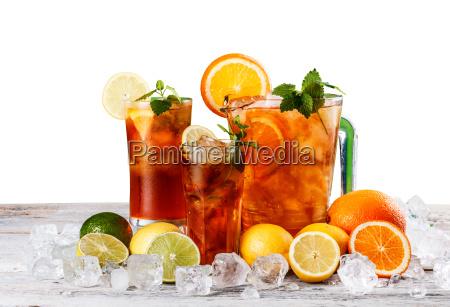 still life of iced tea