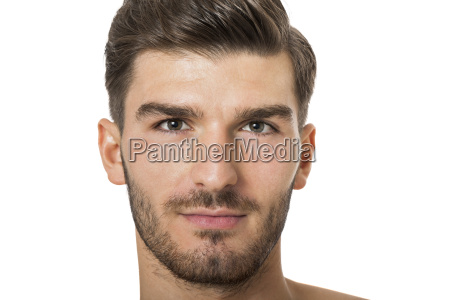 attractive muscular young man with free