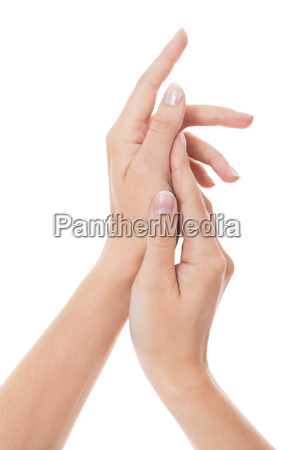 sensual female hands of a woman
