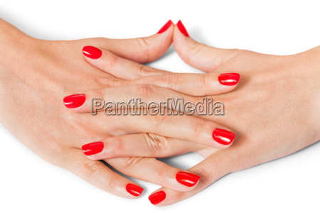 woman hands with beautiful manicured fingers