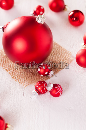 large and small red christmas tree