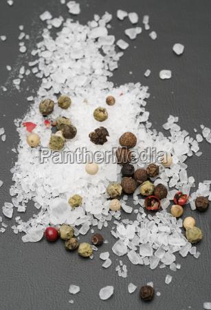 salt and mixed peppercorns