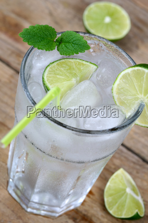 cold water drink in glass with