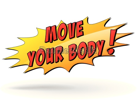 vector move your body icon