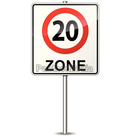 vector speed limit zone sign