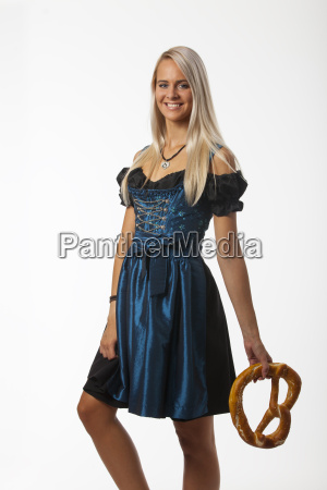 woman in a bavarian dirndl