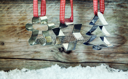 christmas cookie cutter background