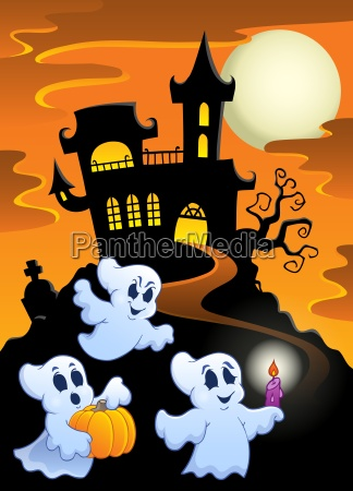 haunted mansion with ghosts 1