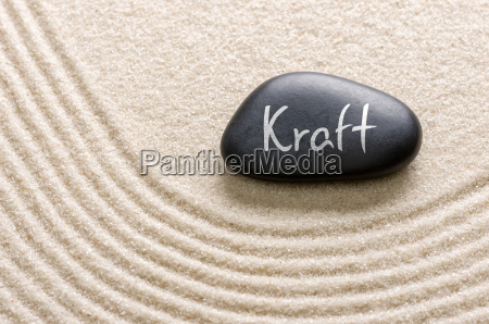 black stone with the inscription kraft