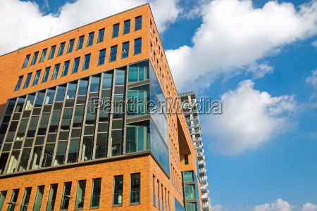 modern office building in hamburg germany