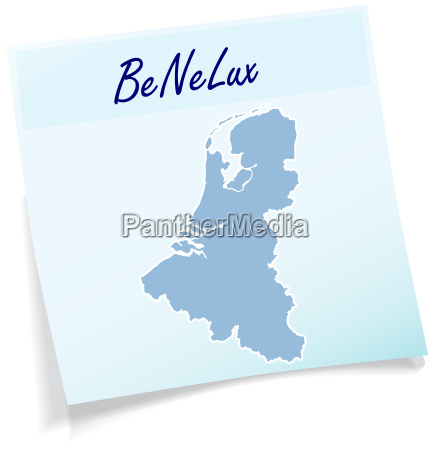 benelux countries as notepad