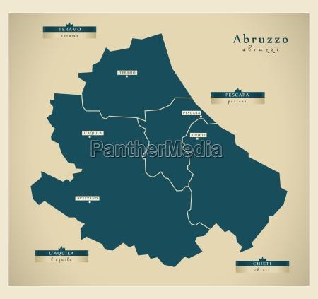 modern map abruzzo it