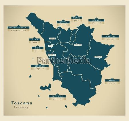 modern map toscana it