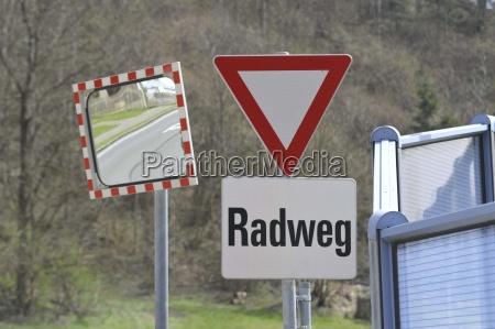 pictogram logo verkehsleitsystem bike path fahrradweg