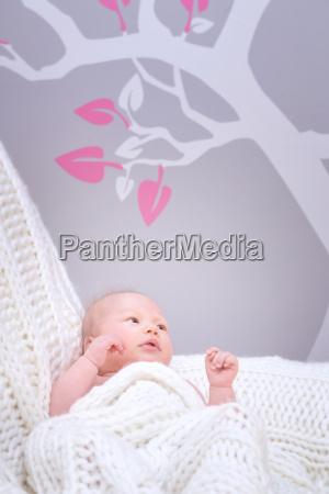 cute little baby in bedroom