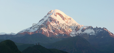 summit of the kazbek in the