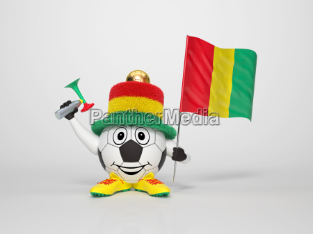 soccer character fan supporting guinea