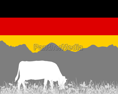 cow alm and german flag