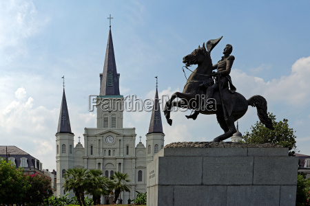 Cathedral, Statue, St Louis, Andrew Jackson, iron, architecture - 12380130