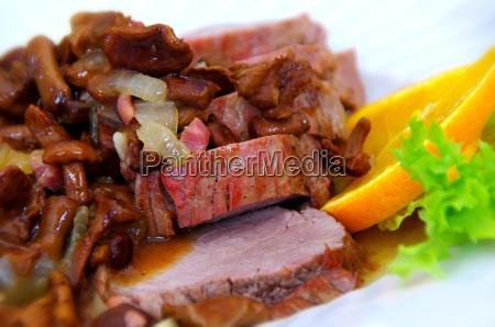 deer roast with side dish
