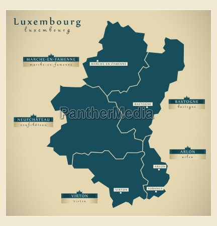 modern map luxembourg be