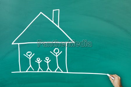 family at home concept