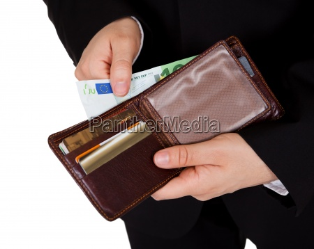 man making a cash payment