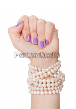 close up of womans hand holding