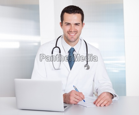 portrait of cheerful doctor