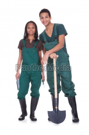 couple of garden workers