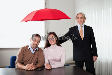 agent providing insurance cover to a