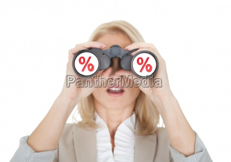 women looking for sale through binoculars