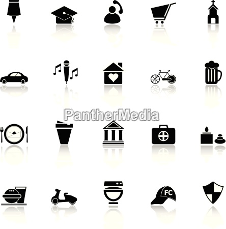 map sign and symbol icons with