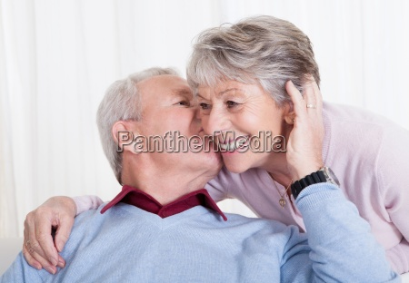 portrait of happy senior loving couple