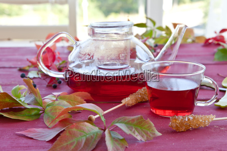 hot tea in autumn