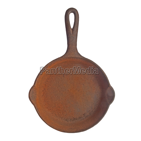 vintage rusty cast iron skillet