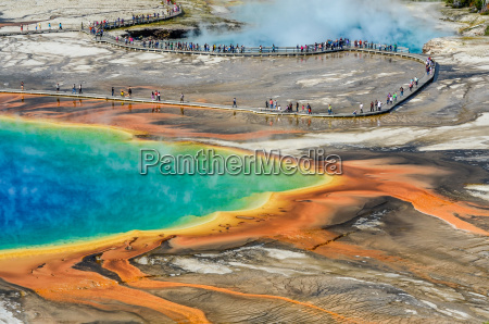 detail view of grand prismatic spring