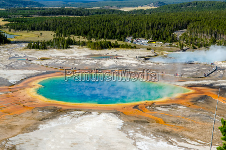 landscape view of grand prismatic spring