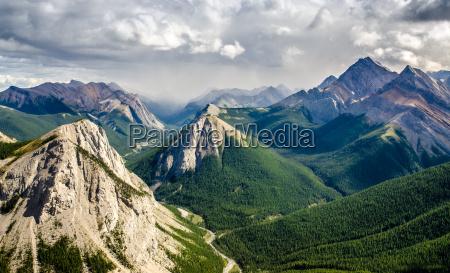 mountain range landscape view in jasper