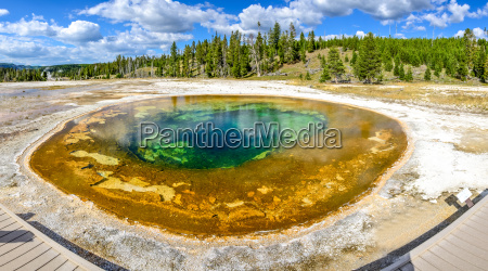 panoramic view of geothermal beauty pool