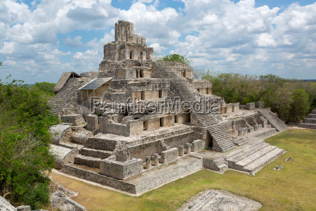 main temple at edzna campeche