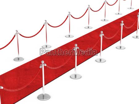 alfombra paso exito rojo