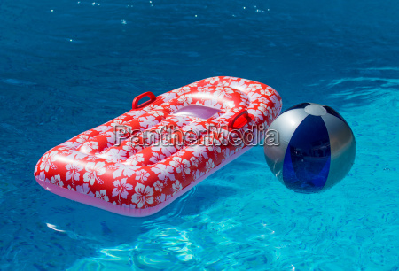 air mattress and water polo in