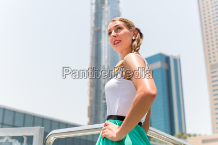 woman in city dubai