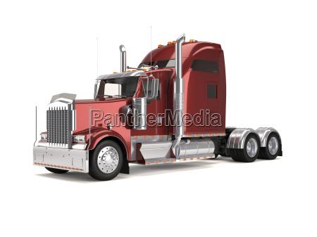 camion americano rosso