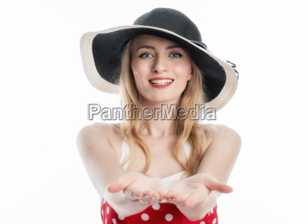 elegant woman with hat